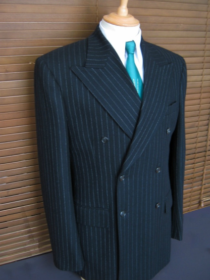 Double Breasted Black Chalkstripe, Modern Vintage Suit by Chester ...