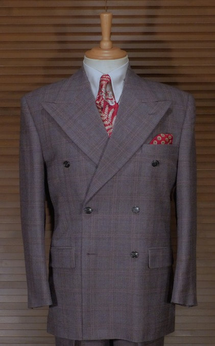 1930s Mens Fashion Guide- What Did Men Wear? DOUBLE BREASTED PRINCE OF WALES CHECK SUIT €535.00 AT vintagedancer.com